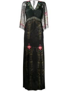 Etro длинное платье с цветочным узором