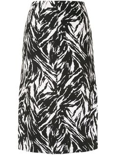 Nº21 юбка-карандаш с зебровым принтом