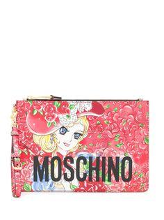 Moschino клатч Georgie с принтом