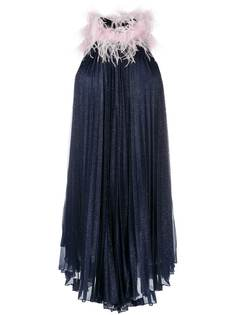Styland платье мини без рукавов с перьями