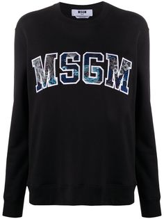 MSGM толстовка с нашивкой-логотипом