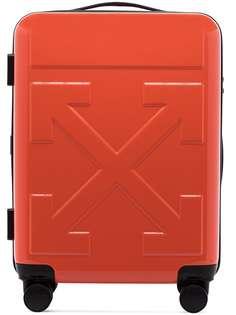 Off-White чемодан с тисненым логотипом