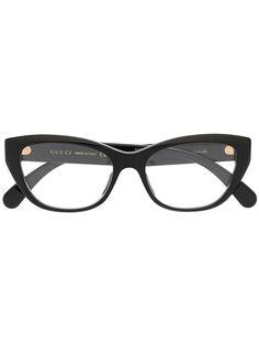 Gucci Eyewear очки в оправе кошачий глаз с логотипом