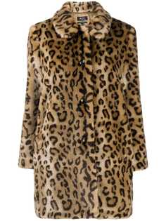 A.P.C. шуба с леопардовым принтом