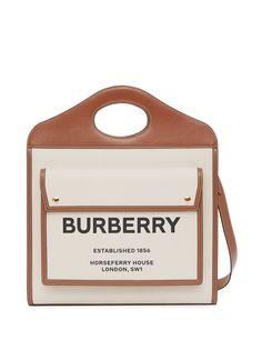 Burberry двухцветная сумка Pocket среднего размера