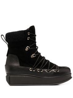 Salvatore Ferragamo ботинки на платформе со шнуровкой