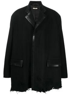 Marni однобортное пальто с необработанным краем