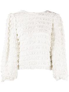 Isabel Marant блузка с длинными рукавами и оборками