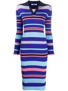 SJYP полосатое платье-рубашка длины миди