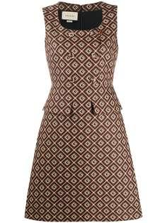 Gucci жаккардовое платье с узором Square G