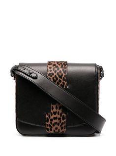 Hogan сумка на плечо с леопардовыми вставками