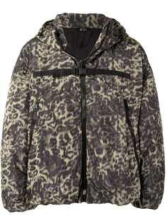 Nº21 куртка с капюшоном и леопардовым принтом