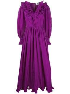 MSGM длинное платье с оборками