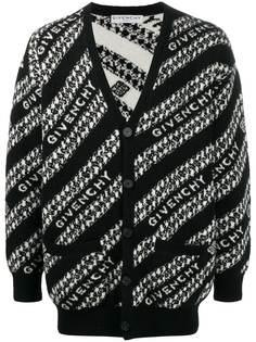 Givenchy кардиган вязки интарсия с логотипом