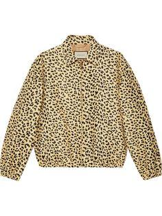 Gucci жаккардовая куртка с леопардовым узором