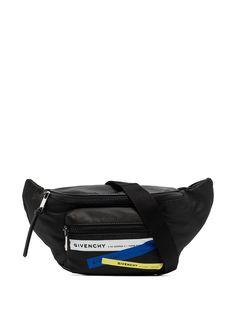Givenchy поясная сумка с принтом с логотипом