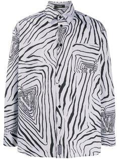 Versace рубашка Virtus в тонкую полоску