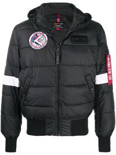 Alpha Industries стеганая куртка с принтом Nasa