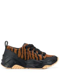 Just Cavalli кроссовки на шнуровке с анималистичным принтом