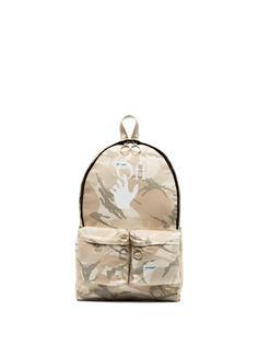 Off-White рюкзак с камуфляжным принтом