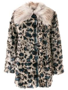 Unreal Fur шуба из искусственного меха с леопардовым узором