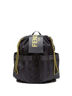 Fendi полосатый рюкзак с логотипом