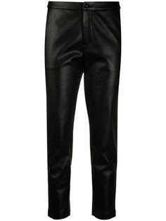 LIU JO укороченные брюки из искусственной кожи