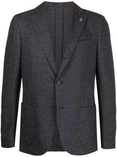 Lardini пиджак с узором в елочку