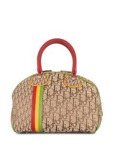 Christian Dior сумка-тоут с узором Trotter Rasta