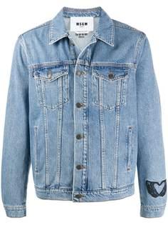 MSGM джинсовая куртка с вышивкой