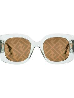 Fendi солнцезащитные очки в квадратной оправе