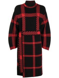 Stella McCartney клетчатое платье с поясом