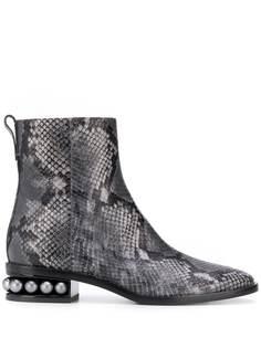 Nicholas Kirkwood ботинки Casati со змеиным принтом