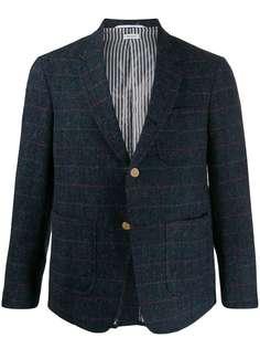 Thom Browne клетчатый пиджак с заостренными лацканами
