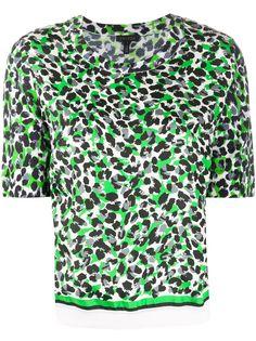 Escada футболка с леопардовым принтом