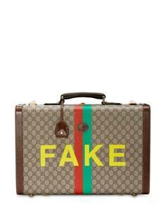 Gucci чемодан среднего размера с принтом Fake/Not