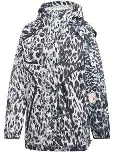 adidas by Stella McCartney ветровка с леопардовым принтом