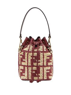 Fendi соломенная мини-сумка Mon Tresor