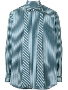 SONGZIO рубашка в тонкую полоску с завязками на воротнике So°Ngzio