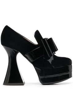 Moschino туфли на платформе с бантом