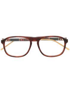 Gucci Eyewear очки в круглой оправе черепаховой расцветки