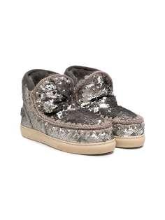 Mou Kids ботинки Eskimo с пайетками