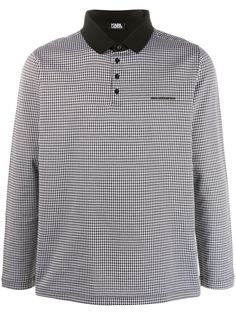 Karl Lagerfeld клетчатая рубашка поло с длинными рукавами