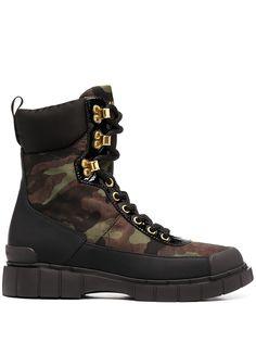 Car Shoe ботинки в стиле милитари с камуфляжным узором