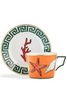 GINORI 1735 чайная чашка и блюдце Il Viaggio di Nettuno