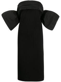 Givenchy платье без бретелей с объемными рукавами