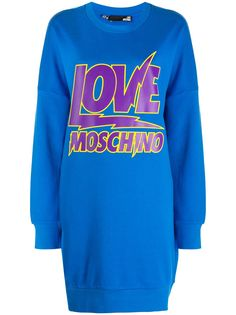 Love Moschino толстовка оверсайз с логотипом