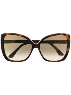Jimmy Choo Eyewear солнцезащитные очки Becky/F/S в оправе бабочка
