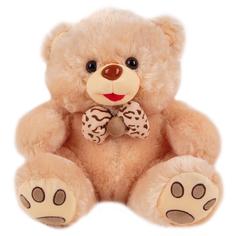 Мягкая игрушка Игруша Медведь с бантом 32 см цвет: бежевый