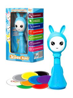 Интерактивная игрушка BertToys Умный Зайчик Няня, голубой